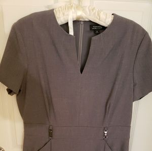 Gray size 14 Tahari Arthur Levine lined dress